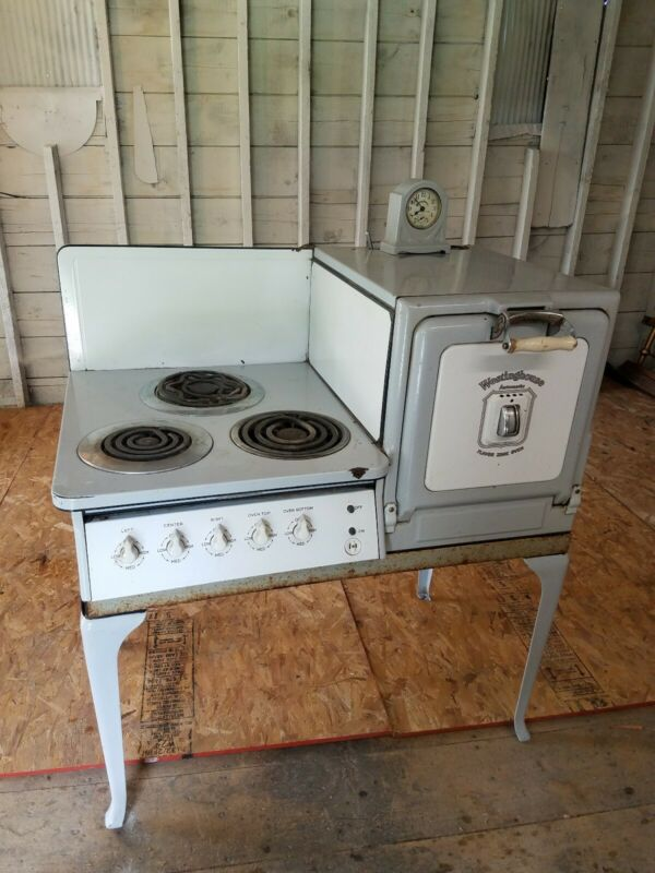 Antique Westinghouse Automatic Electric Oven- with clock patented April 27, 1920