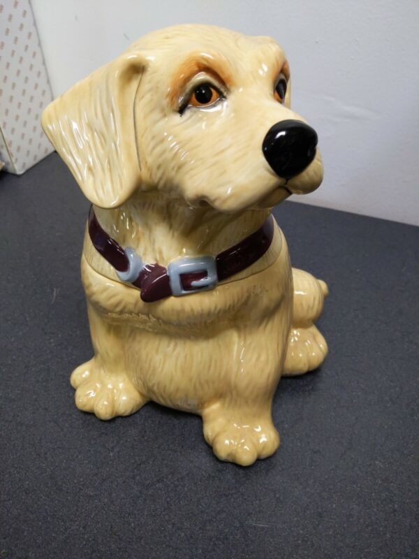 """Big Sky Carvers Canine Kitchen Collection Yellow Lab Cookie Jar Approx 12"""" Tall"""