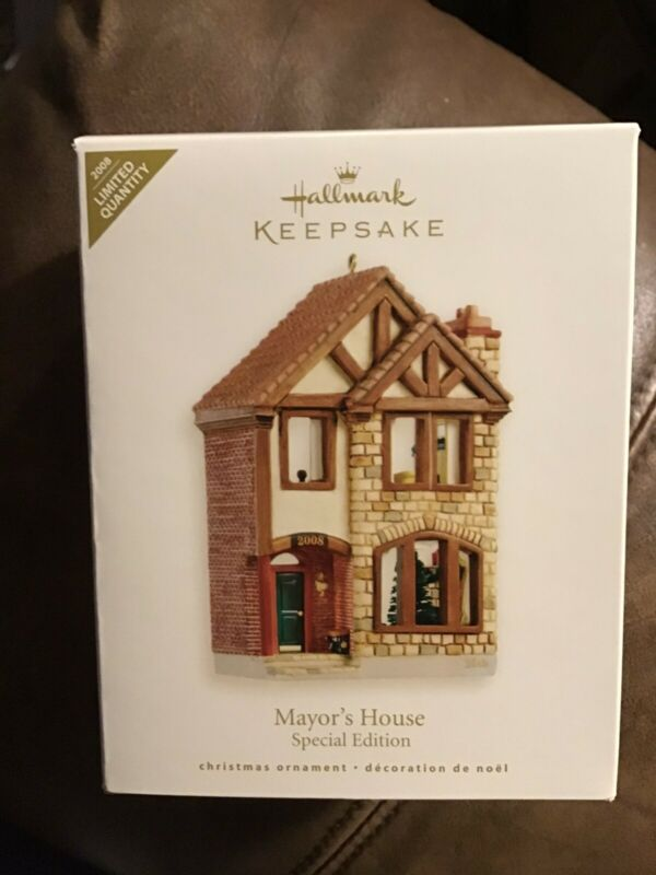 Hallmark 2008 MAYOR'S HOUSE Special Ed Limited Nostalgic Houses Shops MINT