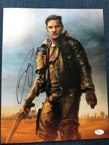 Tom Hardy Mad Max Autographed Signed 11x14 Photo JSA COA #3