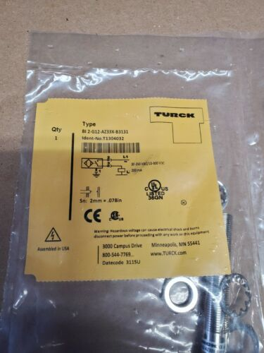 Turck Proximity Prox Sensor BI2-G12-AZ33X-B3131 12mm New In Package 20 Available