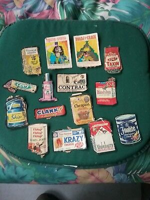15 original 1960s vintage Wacky pack stickers ALL FOR ONE PRICE!