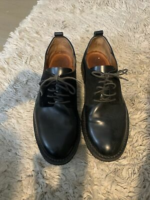 buttero 42 1/2 Black Suede Leather Oxfords 9 1/2