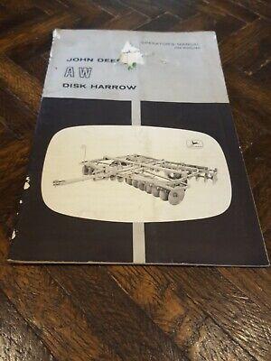 John Deere Aw Disc Harrow Operators Manual Om B25036 2