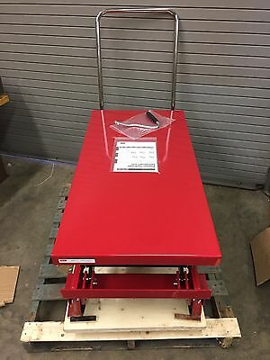 Dayton 4zd01 1500 Lb Cap Hydraulic Lift Die Cart 48x24 18-3-8 To 59 Height