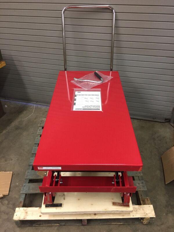"Dayton 4ZD01 1500 lb Cap Hydraulic Lift Die Cart 48""x24"" 18-3-8 to 59"" Height"