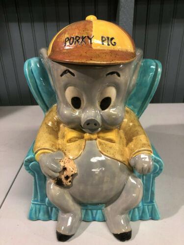 """Vintage 1975 Porky Pig Warner Bros 11"""" Cookie Jar"""