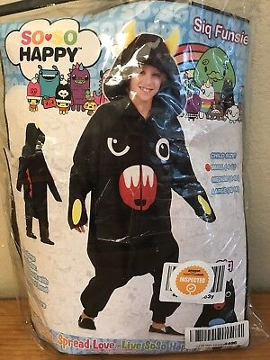 Child Small 4-6 Costume Monster Sleepwear New Cosplay So So Happy Siq Funsies