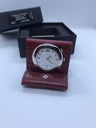 Mont Blanc Timepieces Mini Leather Red Alarm Quartz Palladium Plated M29419