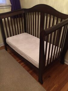 Crib, change table and glider chair