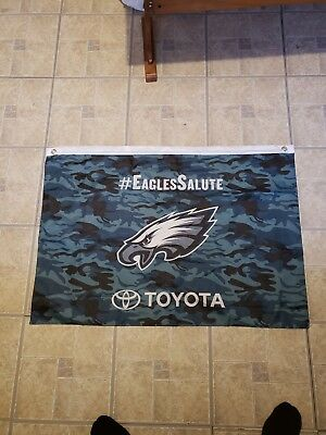 Veterans Day Flag (PHILADELPHIA EAGLES SALUTE TO SERVICE VETERANS DAY FLAG BANNER -CAMO)