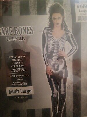 Skeleton Costume Adult Female Halloween Fancy Dress #28 - Skeleton Female Costume