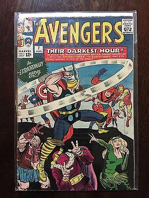 AVENGERS #7 - Grade: Fine - 1964 MARVEL COMIC BOOK RICK JONES/Bucky Costume (Bucky Costume Marvel)