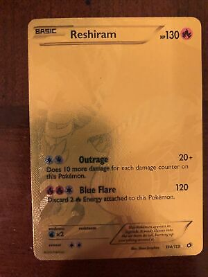 Pokemon Reshiram 114/113 Legendary Treasures Gold Full Art Secret Rare NM