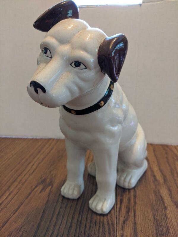 "Nipper Dog Ceramic Bank 10-1/2"""