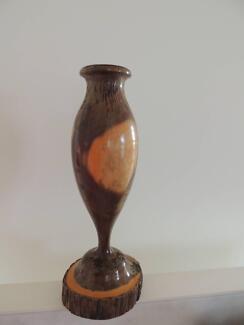 Hand turned wooden vase / urn