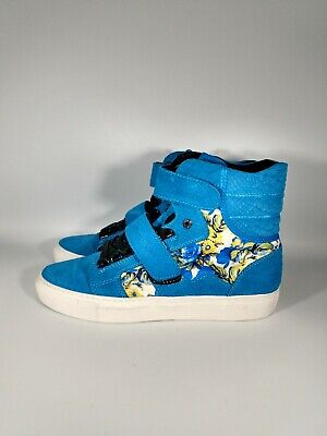 Android Homme blue floral high top sneaker shoes size 8