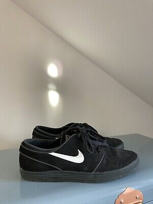 NIKE STEFAN JANOSKI SKATEBOARDING / LUSH TRAINERS BLACK LEATHER GOLD 6 39