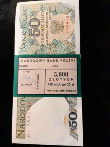 1988 50 ZLOTYCH POLAND P 142c