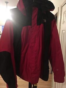 Medium black and red north face jacket