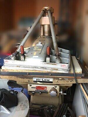 Used Pedersenvilh 282 Am Swing Head Hydraulic Clicker Press