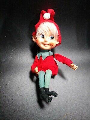 Vintage Elf On The Shelf figure doll posable Christmas Holiday decor