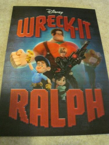 WRECK-IT RALPH 3D Lenticular Card DISNEY MOVIE CLUB 2013 VG++