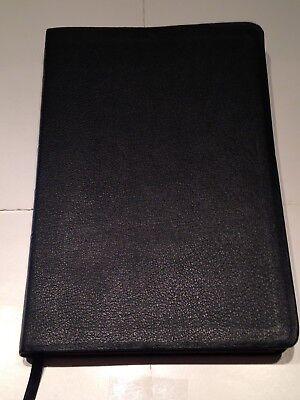 Niv Pastors Bible   Black Genuine Leather   Very Good Condition   Very Rare