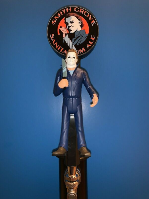 Michael Myers Halloween Toony Terrors Custom Beer Tap Keg Kegerator Handle +Base
