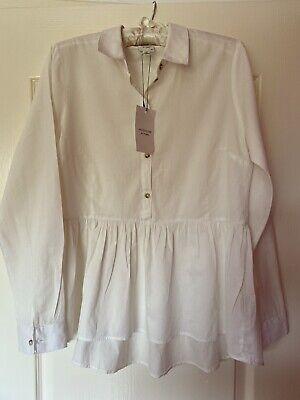 New Jacqueline De Yong Ladies Cream/white Blouse Size 10  RRP £22 Bargain