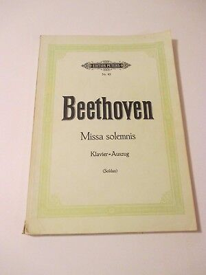 Vintage Bethoven Missa Solemnis Songs Piano Music Book