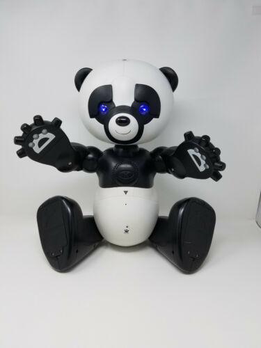 Wowwee RoboPanda Robot Panda Interactive Toy w/ No.1 & No.2 Cartridges TESTED