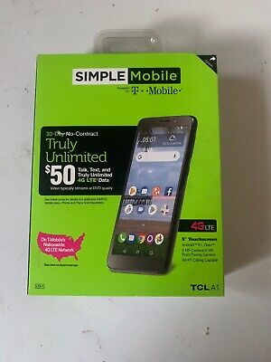 SIMPLE Mobile TCL A1 4G LTE Prepaid Cell Phone