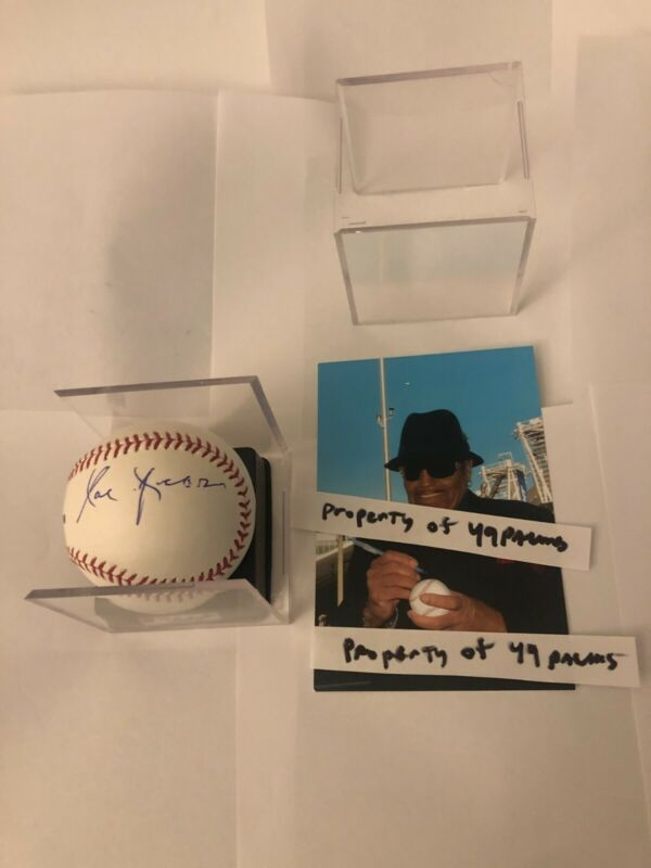 Joe Jackson SIGNED OML baseball ( Michael & Janet Jackson Father ) Rare