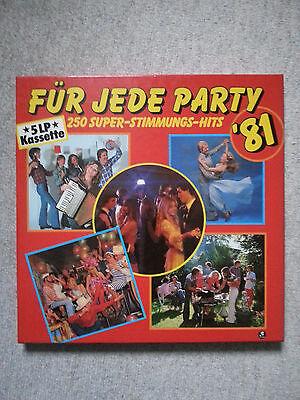 """5 LP Kassette """" Für jede Party ´81 """" 250 Super - Stimmungs- Hits 198-46215/219"""