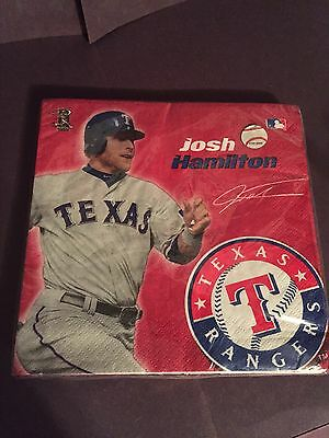 MLB Texas Rangers Josh Hamilton Team Party Supplies. New. Napkins. -