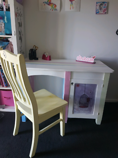 Desk, chair and matching bedside