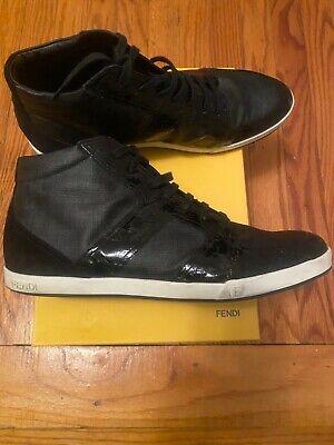 Fendi Sneakers and Belt Black hightop Leather sz 11
