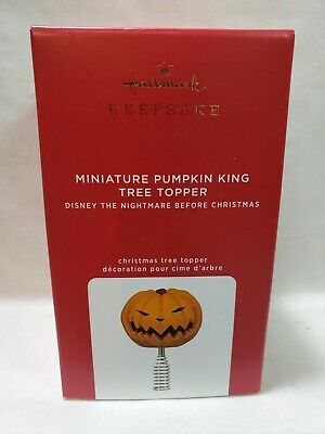 2020 Hallmark Keepsake Ornament MINIATURE PUMPKIN KING TREE TOPPER NIGHTMARE B4