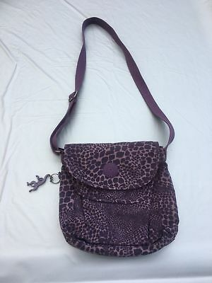Kipling Iriya-Ciosa QVC If Purple Handbag With Monkey Bag Shoulder Adjustable