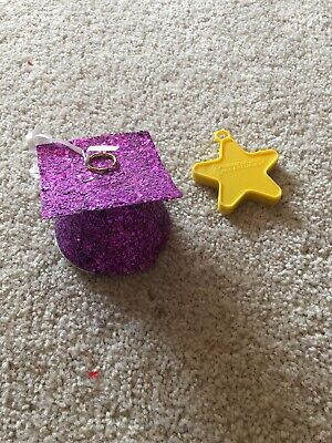 - PURPLE GLITTER GRADUATION CAP BALLOON WEIGHT - USED ONCE PARTY CITY YELLOW STAR
