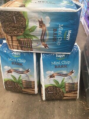 3 X 100 Litres Bark Chip Bags  Landscape Bark Mulch Chippings Big Heavy Bags