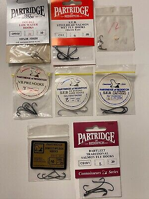 Size 08 STB Patriot Barbless Stinger Hook Partridge Hooks Qty 10