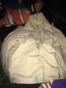 White burton jacket