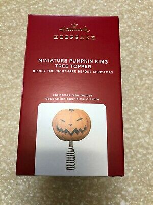2020 Hallmark Pumpkin King Tree Topper The Nightmare Before Christmas Mini