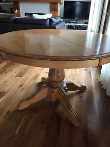 Solid wool table