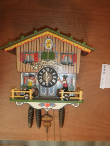 German working  SEE VIDEO musical Chalet Hofbrauhaus 1 Day Cuckoo Clock CK2540