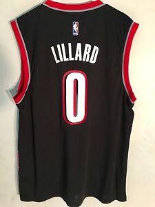 db27d0a9db7c Adidas NBA Jersey Portland Trailblazers Damian Lillard Black sz L