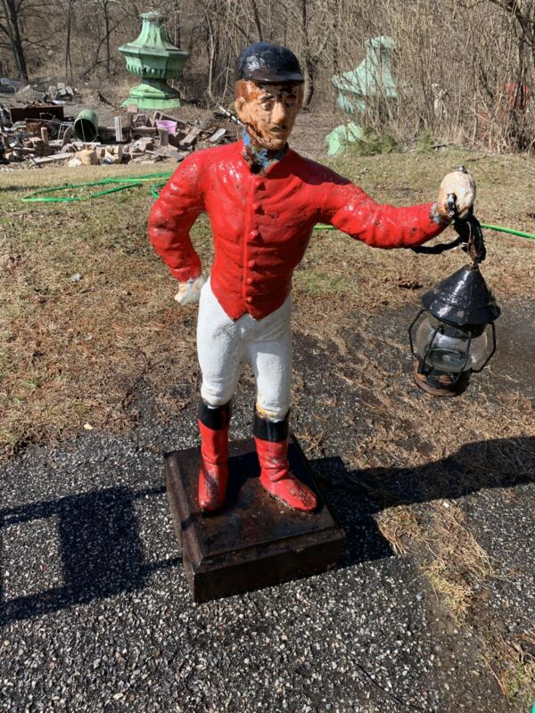 Antique Hitiching Post Jockey Groom Cast Iron