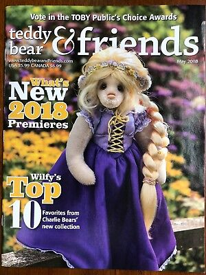 Teddy Bear And Friends Magazine May 2018 issue, New!